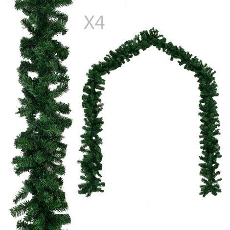 Christmas Garlands 4 pcs Green 270 cm PVC