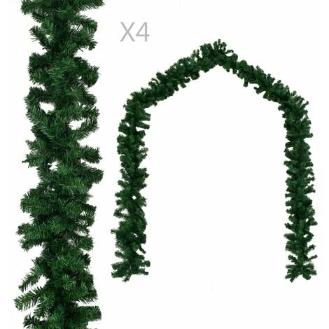Christmas Garlands 4 pcs Green 270 cm PVC