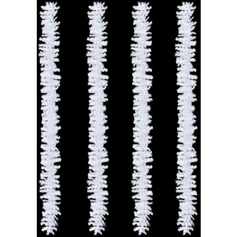 Christmas Garlands 4 pcs White 270 cm PVC