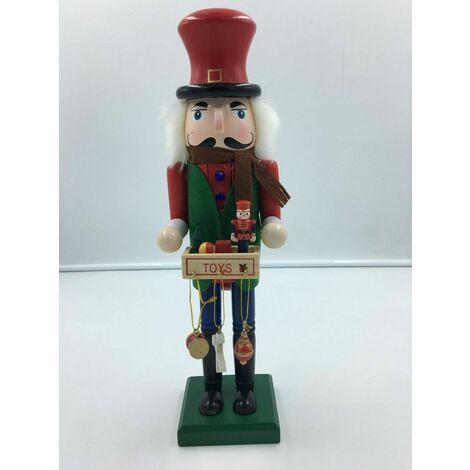 Christmas - Grand Smart Gentleman 38cms Wood Xmas Nutcracker Toy Gift Seller