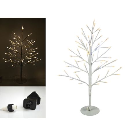 Christmas LED Angel Lit Tree Twig 2D Xmas Warm White Lights Outdoor Indoor 60cm