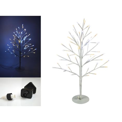 Christmas LED Angel Lit Tree Twig 2D Xmas White Lights Outdoor Indoor 60cm