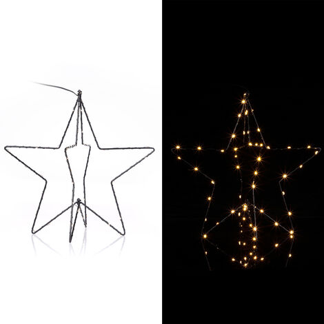 Christmas LED Star Silver Light