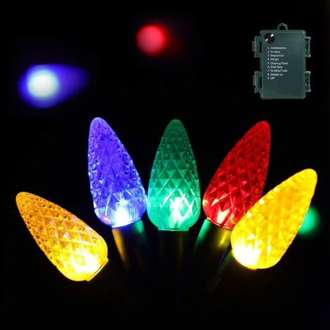 """main image of """"Christmas Lights,Outdoor Christmas Decorations Clearance 16.4 Ft 50 LEDs Strawberry Battery Operated Strings Lights 8 Modes with Auto On/Off Time for Garland Garden Patio"""""""
