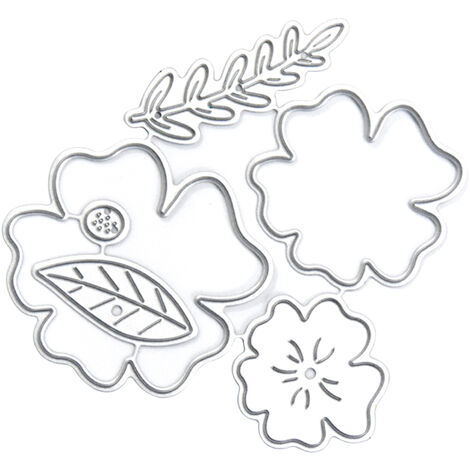 Christmas Metal Cutting Dies Tree Flower Butterfly Shape Cutting Die for Kids DIY Scrapbooking Card