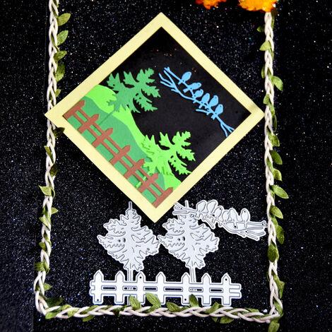 "main image of ""Christmas Metal Cutting Dies Xmas Tree Bird Shape Cutting Die for DIY Scrapbooking Card Photo Album Embossing Paper Cards"""