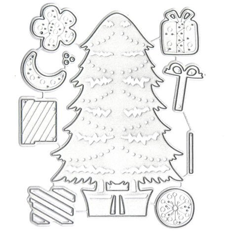 Christmas Metal Cutting Dies Xmas Tree Shoe Hats Shape Cutting Die for Kids DIY Scrapbooking Card Photo Album Embossing Paper Cards