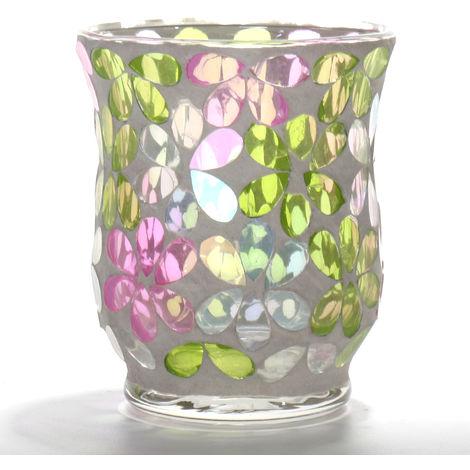 Christmas Mosaic Glass Candle Holder Home Decor Popular Gift Sasicare