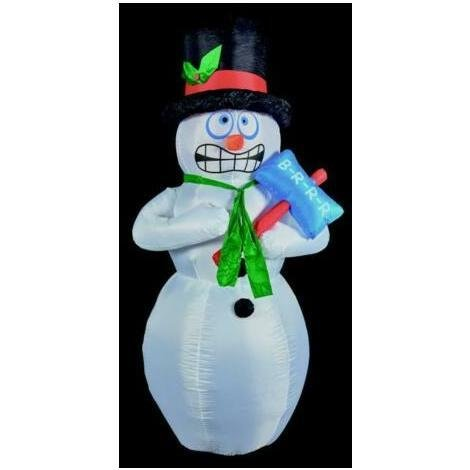 Christmas Outdoor Fun decoration Large 2.1m Inflatable Shivering Snowman