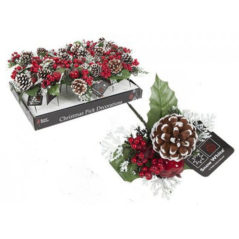 "main image of ""Christmas Pick Pine Cone Decoration"""