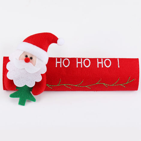 Christmas Refrigerator Door Handle Covers Kitchen Appliance Decor Handles Antiskid Protector Gloves