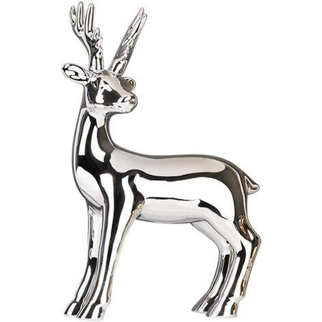 "main image of ""Christmas Reindeer Figurine Statue Deer Sculpture Christmas Table Centerpieces Decorations"""