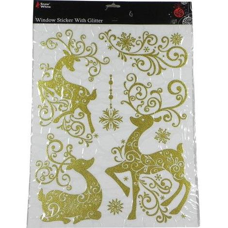 "main image of ""Christmas Reindeer Laser Window Stickers"""