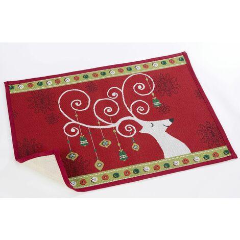 Christmas Rudolph Door Mat 50 x 70cm Anti Slip Welcome Floor Rug Reindeer