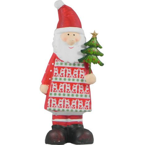 Christmas Santa with Tree Decoration