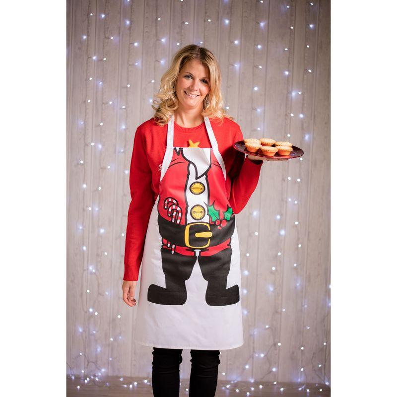 Image of Adult Printed Apron (One Size) (Santa) - Christmas Shop