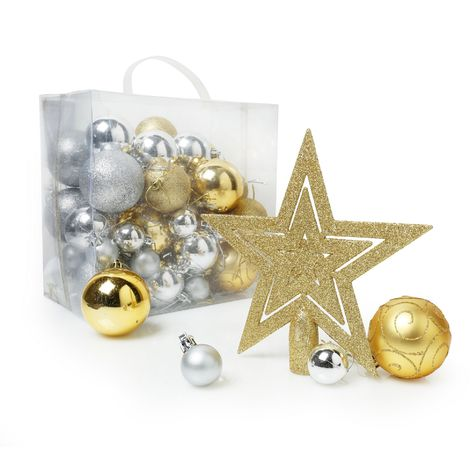 Christmas Shop Assorted 50 Piece Christmas Tree Decoration Pack