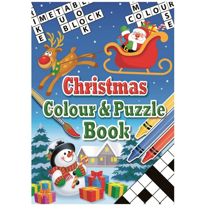 Image of Christmas Shop Christmas Colour And Puzzle Book (One Size) (Multicoloured)