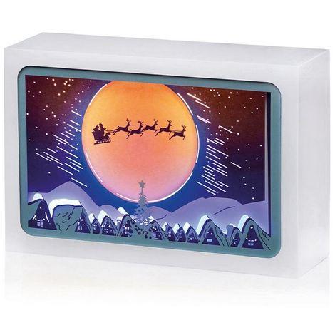 Christmas Shop Diorama Moonlit Scene Light