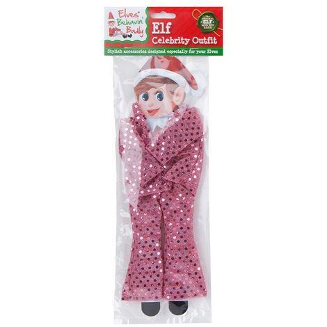 Christmas Shop Elves Behavin Badly Sequin Celebrity Outfit For Elf Doll