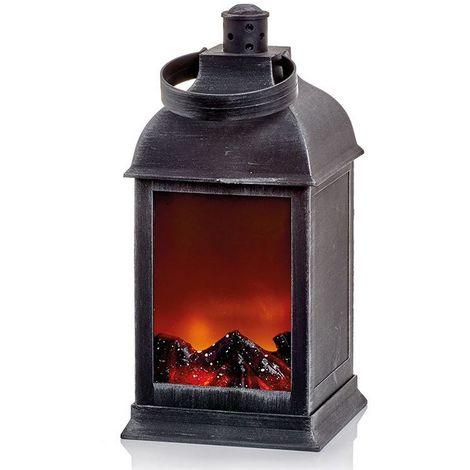 Christmas Shop Fireplace Lantern Decoration