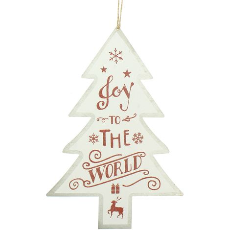 Christmas Shop Tree Sign Decoration