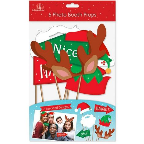 Christmas Shop Unisex Xmas Photo Props (Pack Of 6) (One Size) (Multicoloured)