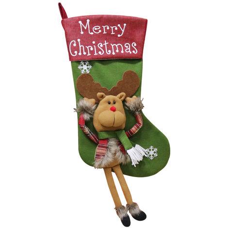 Christmas Socks Gift Bag Christmas Tree Pendant Decoration