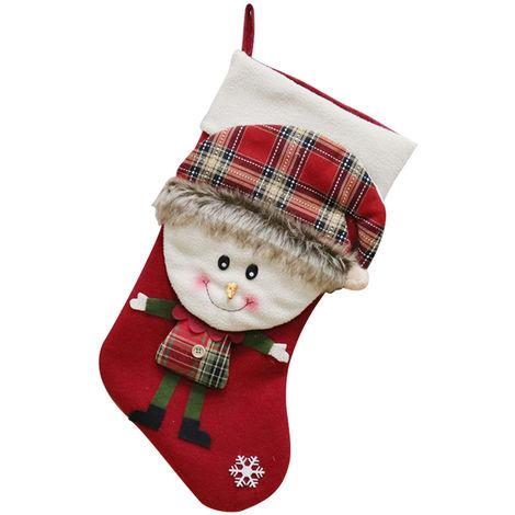 Christmas Socks Gift Bag Christmas Tree Pendant Decoration Red