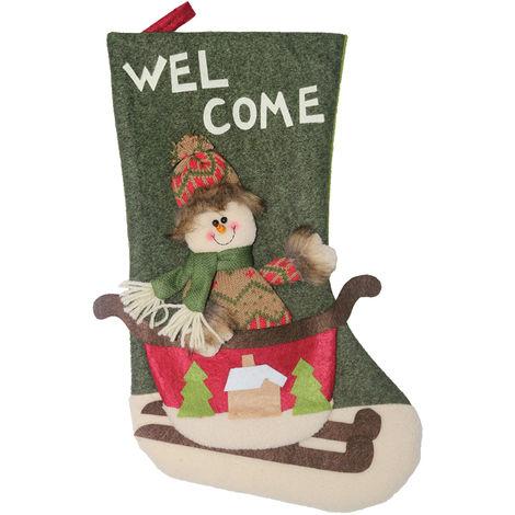 Christmas Socks Gift Bag Christmas Tree Pendant Decoration XD20228 Green