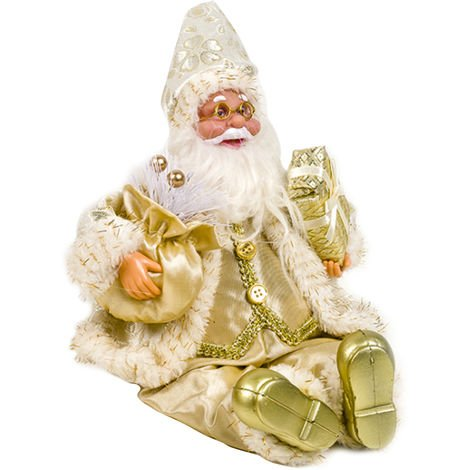 Christmas Stuffed Plush Toys Indoor Cloth Art Santa Claus Doll Ornaments Christmas Decoration Gift