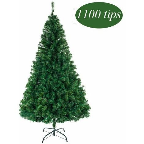 Christmas Tree Artificial Decoration Xmas Gift with Metal Stand - 7ft / 210cm 1100 Branch