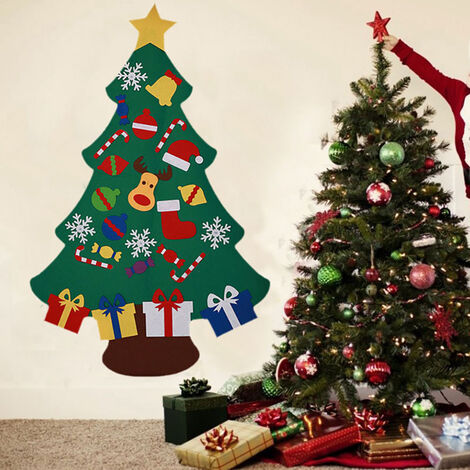 Christmas Tree Felt Ornament Xmas Pendant Children DIY Toy