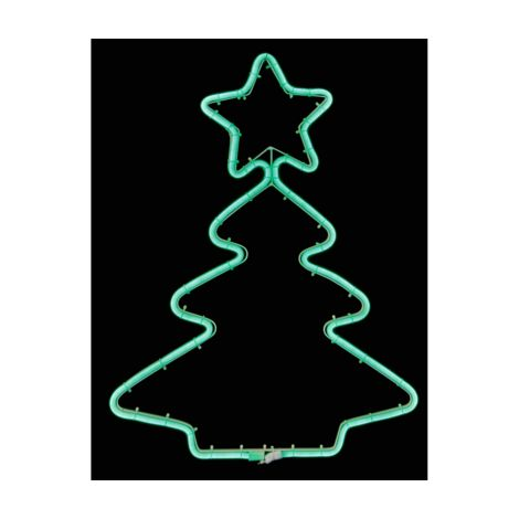 Christmas Tree Neon Effect Wall Light with Green LED's