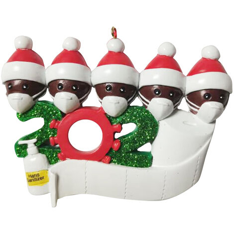Christmas tree pendant black PVC 6 heads