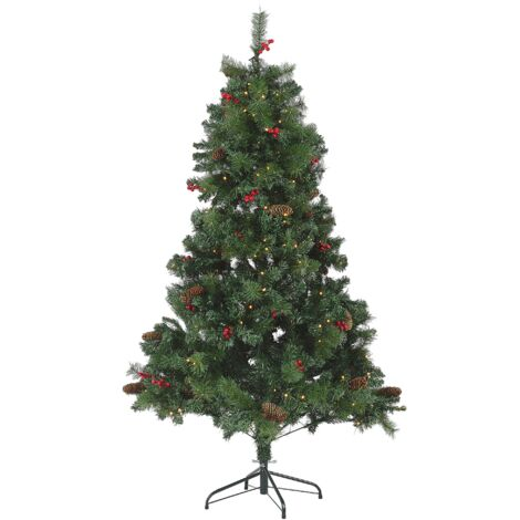 Christmas Tree Pre-Lit 180 cm Green JACINTO