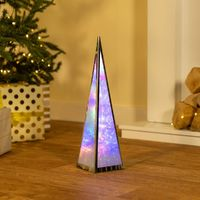 Christmas Tree Pyramid Lantern Decoration Freestanding Star Light LED Floor Lamp