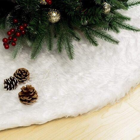 Christmas Tree Skirt, 90cm, Christmas Tree Rug, Christmas Tree Foot Cover (White), Christmas Tree Decoration
