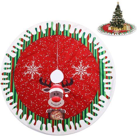 """main image of """"Christmas Tree Skirt, Christmas Tree Rug, Christmas Tree Blanket, Red Christmas Tree Skirt for Home, Holidays, Christmas Tree Decoration (80cm)"""""""