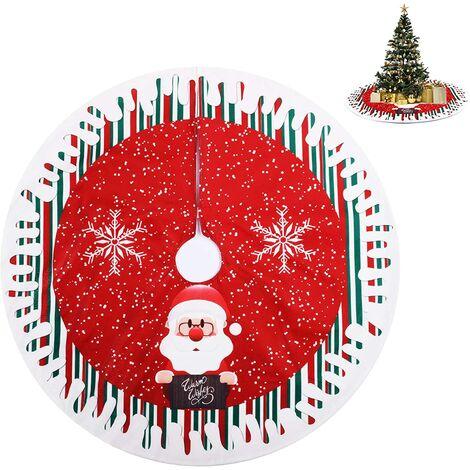 """main image of """"Christmas Tree Skirt, Christmas Tree Rug, Christmas Tree Blanket, Red Christmas Tree Skirt for Home, Holidays, Santa Claus Christmas Tree Decoration (80cm)"""""""