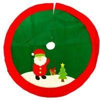 Christmas Tree Skirt Decoration Santa 100cm Round Cover Festive Base Stand Rug