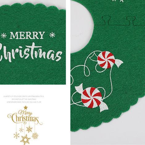 "main image of ""Christmas Tree Skirt Reusable Xmas Tree Skirt for Christmas Decorations Happy Thanksgiving Day Wedding Holiday Festivals Gift"""