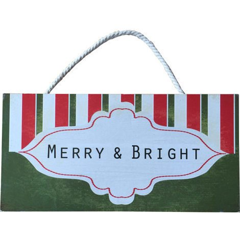 """Christmas Wall Plaque""""Don't Get Your Tinsel In A Tangle"""""""