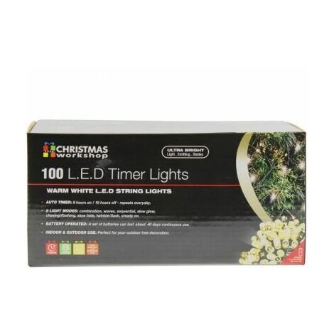 Christmas Workshop 100 LED Warm White Outdoor Christmas Lights