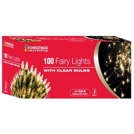 Christmas Workshop Shadeless Fairy Lights (String Of 100) (UK Plug)