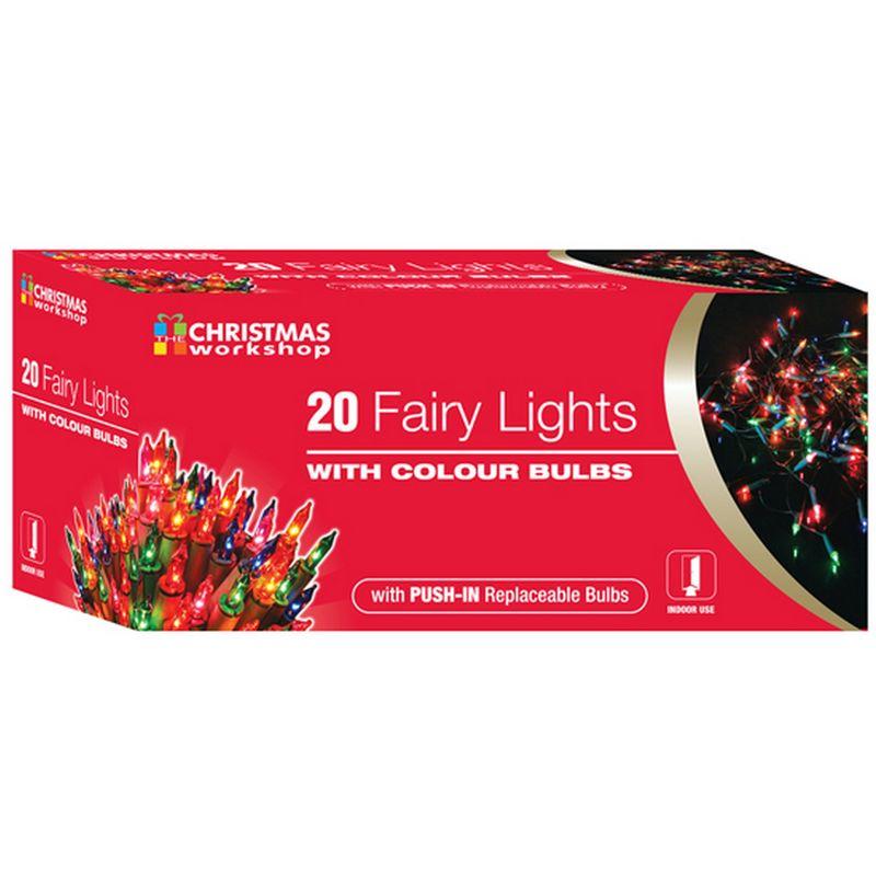Image of Shadeless Fairy Lights (String Of 20) (UK Mains Plug) (One Size) (Multicoloured) - Christmas Workshop