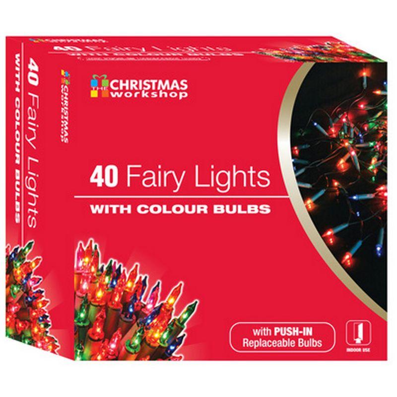 Image of Shadeless Fairy Lights (String Of 40) (UK Plug) (One Size) (Colour) - Christmas Workshop
