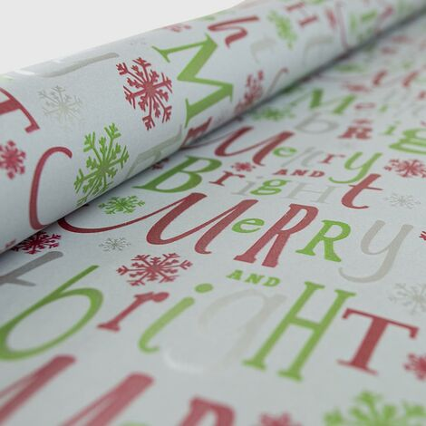 Christmas Wrapping Paper Xmas Gift Wrap Presents Gifts Santa Great Value