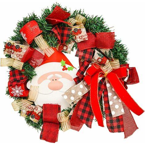 "main image of ""Christmas wreath ornaments Christmas wreath Christmas wreath handmade Christmas wreath Christmas indoor and outdoor decoration Santa Claus SOEKAVIA"""