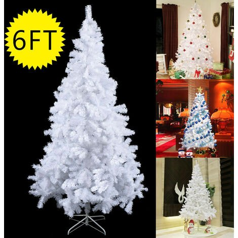 Christmas Xmas Tree Hausen Traditional White Indoor Artificial Trees Decoration